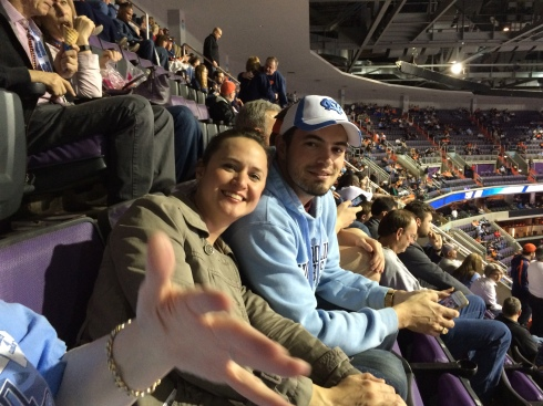 Graham and his wife, Sarah, at the 2016 ACC Championship Tournament in Washington, DC
